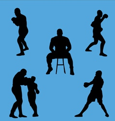 boxing collection vector image vector image