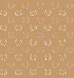 circle stars and laurel wreath pattern background vector image vector image