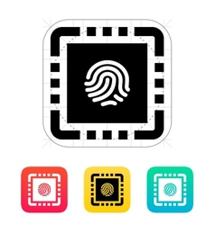 Cpu secure icon vector