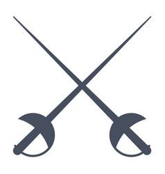 fencing icon vector image