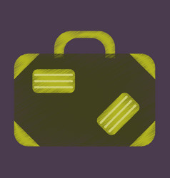 Flat icon in shading style suitcase vector