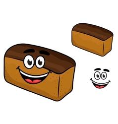 Freshly baled smiling loaf of brown bread vector