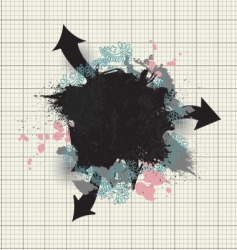 grunge abstract vector image vector image