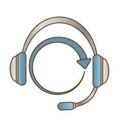 headphone service repair icon vector image