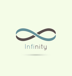 Infinity sign from the colored stripes of tape vector