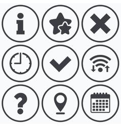 Information icons question faq symbol vector