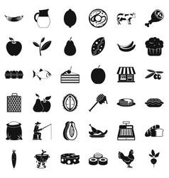 Livelihood icons set simple style vector
