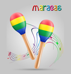 Maracas musical instruments stock vector