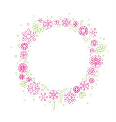 minimalist floral background frame vector image