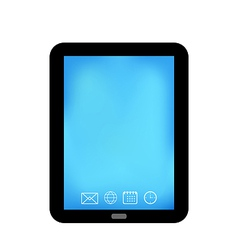 Tablet computer with panel navigation smart device vector image