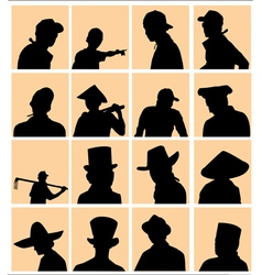 using hat silhouette vector image vector image