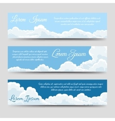 White clouds banners template collection vector image vector image