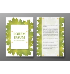 Template brochure with foliages seasons colors vector