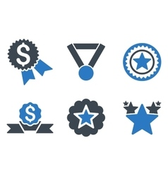 Reward flat icons vector