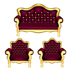 Luxury sofa chair vector