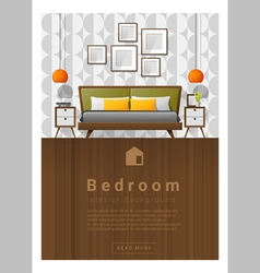 Interior design modern bedroom banner 5 vector