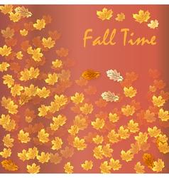 Autumn time seasonal banner vector image