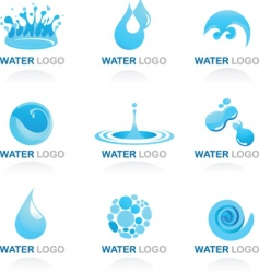 Nature logos 03 water theme vector