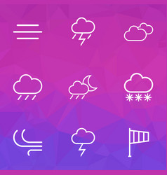 Meteorology outlines set collection of windsock vector
