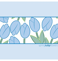All occasion tulip card in format vector
