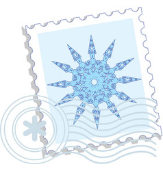 Snowflake stamp vector