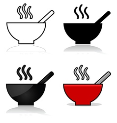 Soup icons vector