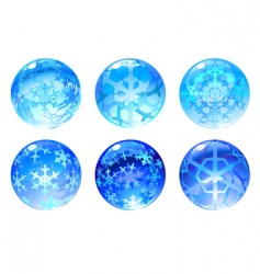Winter balls vector