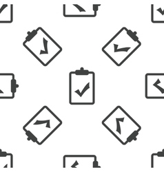 Clipboard yes pattern vector