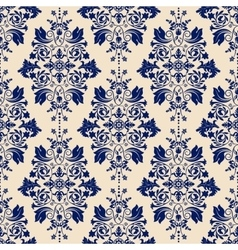 Classic wallpaper damask background vector