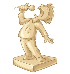 Golden statuette of the best singer vector