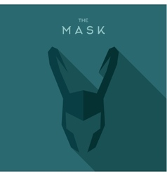 Mask helmet with horns villain anti hero vector
