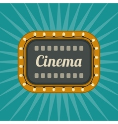 Retro cinema banner vector
