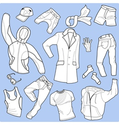 Seamless background man clothes vector
