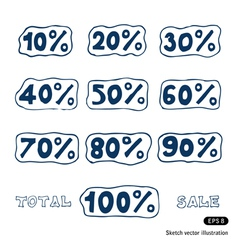 Discount icons set vector