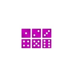Dice icon flat design style vector