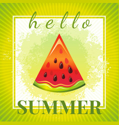 Abstract watercolor summer grunge background red vector