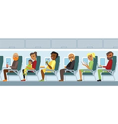 Aircraft passengers on the flight vector image vector image