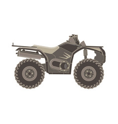 atv side view isolated icon off-road motorcycles vector image vector image