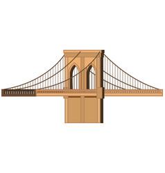 big bridge on white background vector image vector image