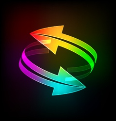 Bright arrows vector image