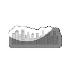 cityscape buildings isolated icon vector image vector image
