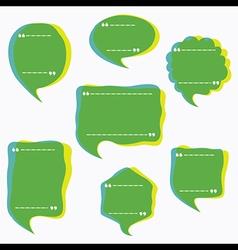 creative shape message bubble design vector image