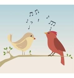 cute ornamental bird icon vector image