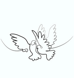 Dove flying two pigeons logo vector