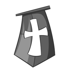 Flag of crusaders icon black monochrome style vector