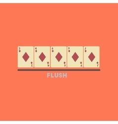 flat icon on stylish background poker flush vector image