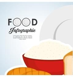 Healthy food design infographic icon menu vector