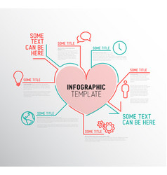 Heart infographic report template vector