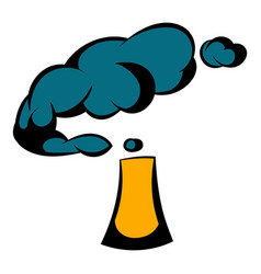 Industrial smoke from chimney icon icon cartoon vector