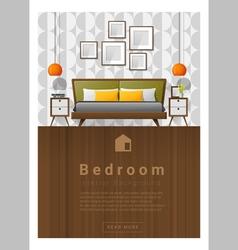 Interior design modern bedroom banner 5 vector